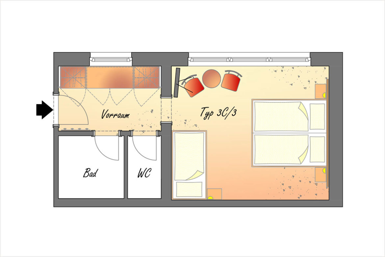 Doppelzimmer Typ 3C/3 - Hotel DER SAILER in Obertauern
