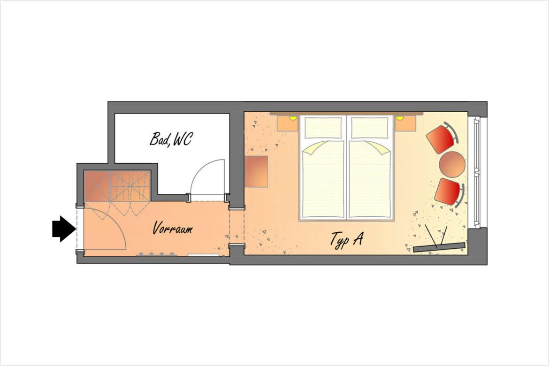 Doppelzimmer Typ A - Hotel DER SAILER in Obertauern