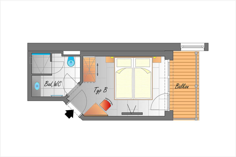 Doppelzimmer Typ B - Hotel DER SAILER in Obertauern