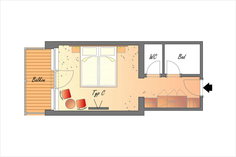 Doppelzimmer Typ C - Hotel DER SAILER in Obertauern