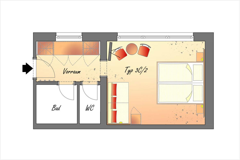 Doppelzimmer Typ 3C/2 - Hotel DER SAILER in Obertauern