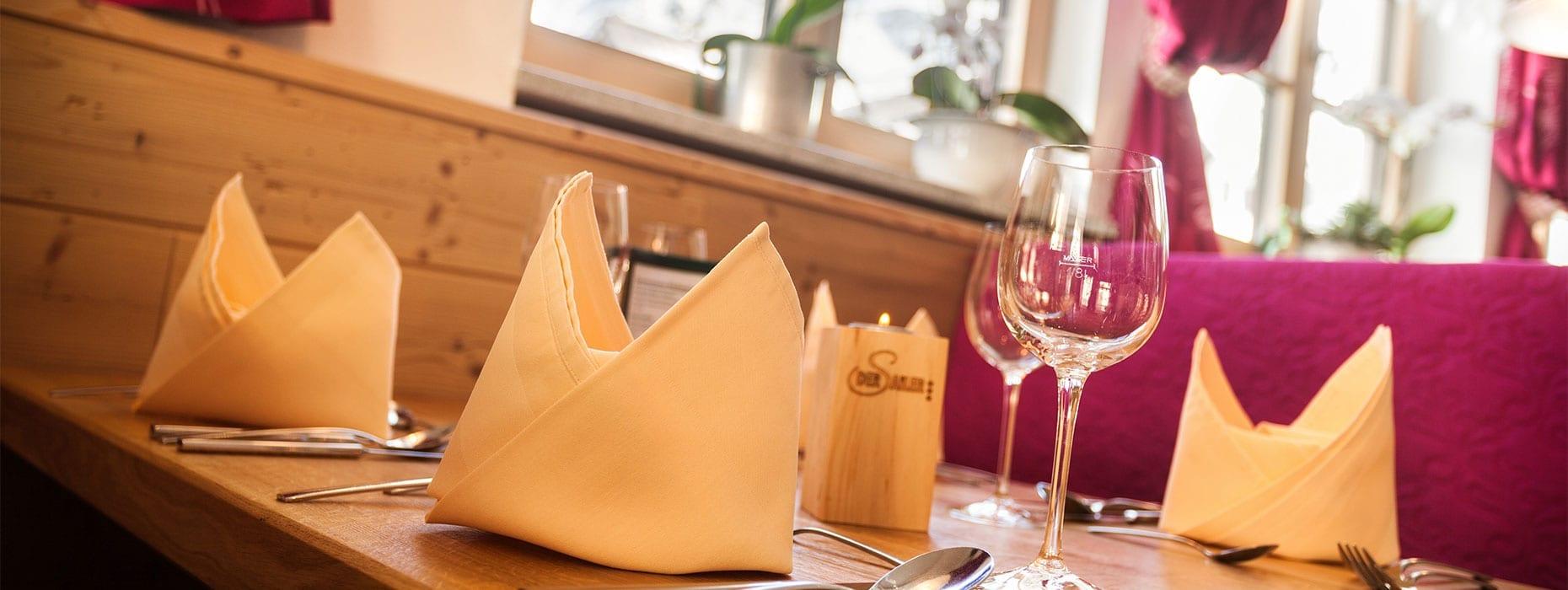 """Restaurant in Obertauern, 3-Sterne Hotel """"Der Sailer"""""""