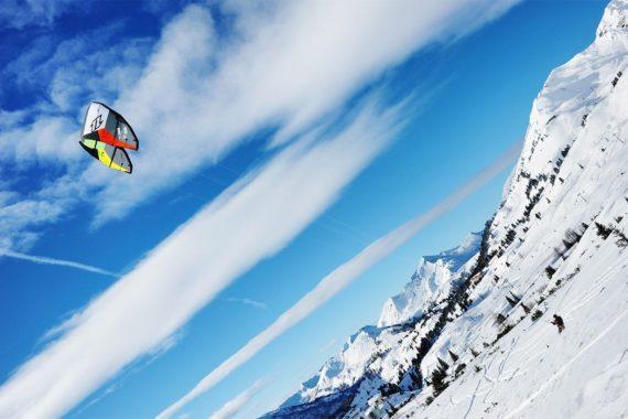 Snowkiten im Winterurlaub in Obertauern, Salzburger Land