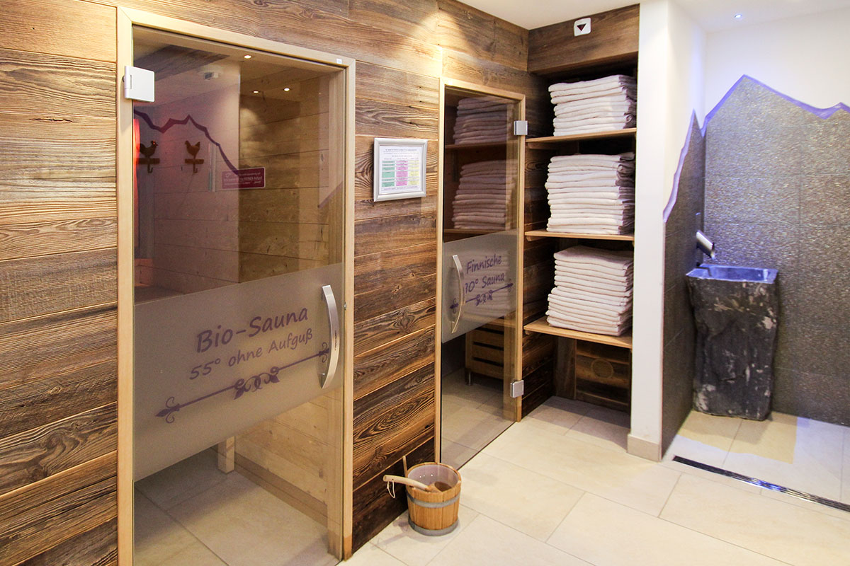 Wellnessbereich im 3-Sterne Hotel DER SAILER